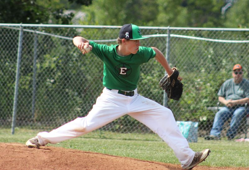 CONTRIBUTED PHOTO: CARMEN THORNHILL - Cory James delivers to the plae in a game earlier this season.