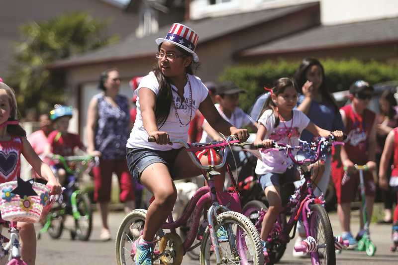 PHIL HAWKINS - Children are invited to decorate their bikes at Gervais High School from 11 a.m. to noon on July 4 and take part in the parade.