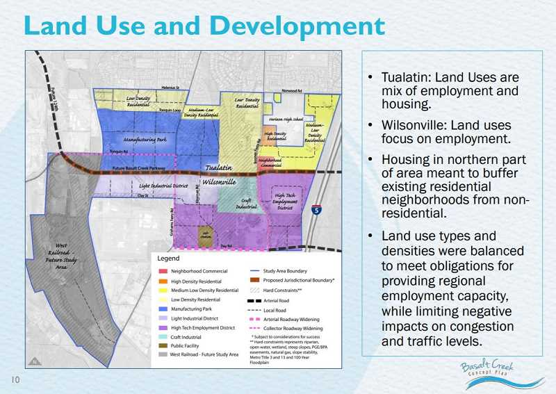 COURTESY CITY OF TUALATIN - Heres a look at how the Basalt Creek plan and jurisdictional lines will likely remain.