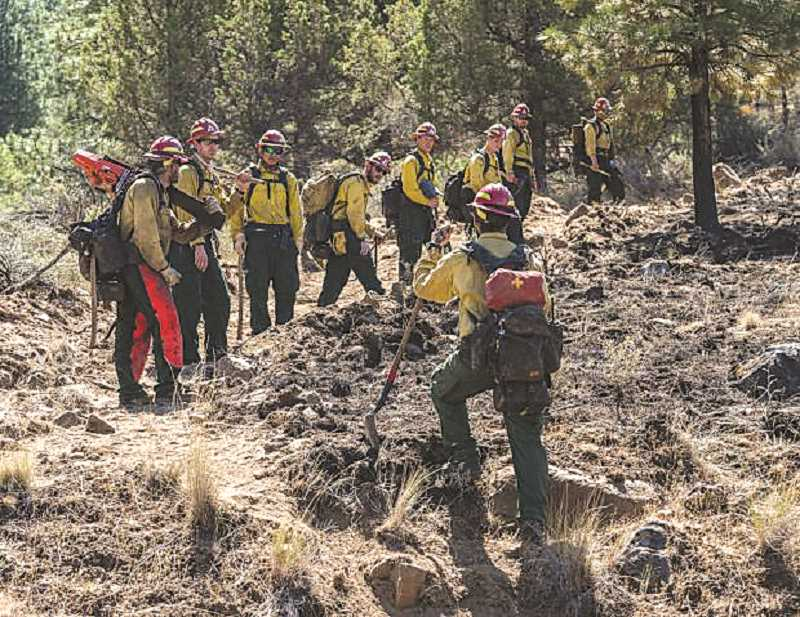 COURTESY PHOTO - Fire crews are working to mop up the 2,175-acre Graham Fire in central Oregon.