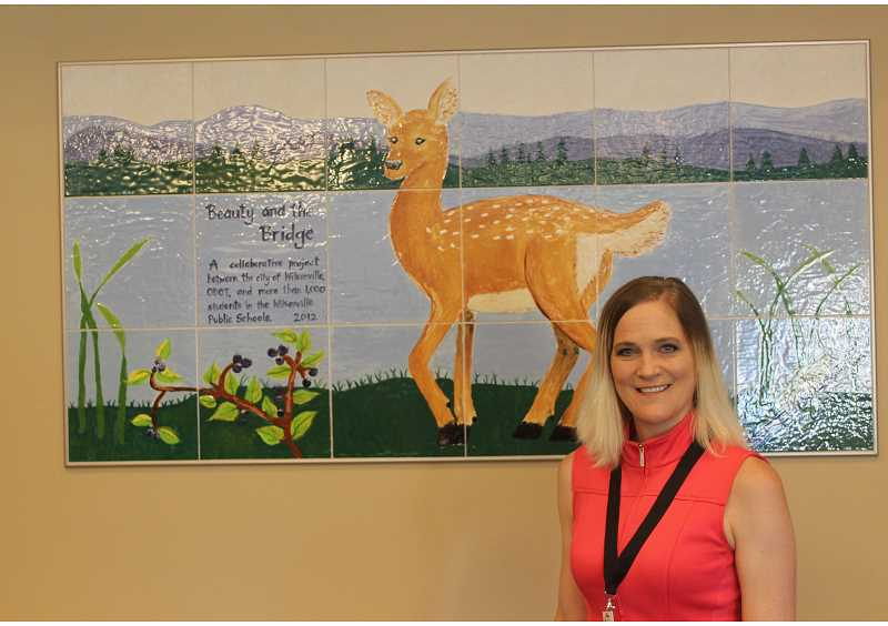 SPOKESMAN PHOTO: COREY BUCHANAN - Angela Handran, who worked on projects such as the Beauty and the Bridge project to enhance the artwork under the I-5 bridge in Wilsonville, was the City's assistant to the city manager until last week.