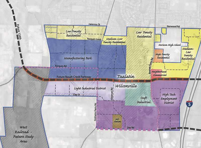 SUBMITTED PHOTO - The Basalt Creek Planning Area is split up between Tualatin and Wilsonville and will include industrial development on Wilsonville's side.