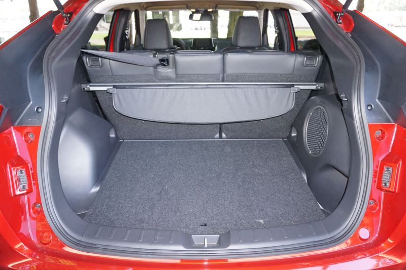 PORTLAND TRIBUNE: JEFF ZURSCHMEIDE - There's plenty of space in the back of the 2018 Mitsubishi Eclipse Cross, with 22.6 cubic feet behind the rear seats and 48.9 cubic feet with the rear seats down.