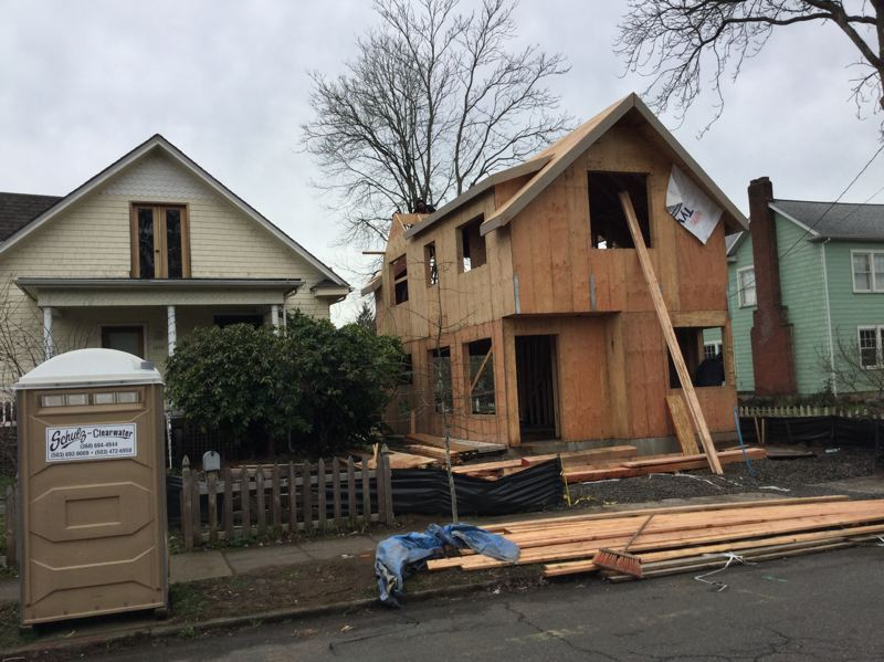 TRIBUNE FILE PHOTO - A new accessory dwelling unit or ADU is built in the South Tabor neighborhood.