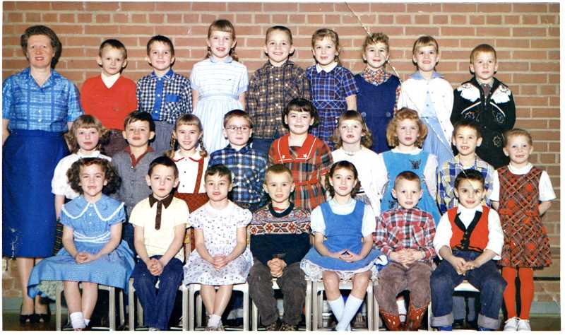 PHOTO COURTESY KEN CAMERON - A class photo from Ken Cameron's (center, back) time at Willamette Primary School.