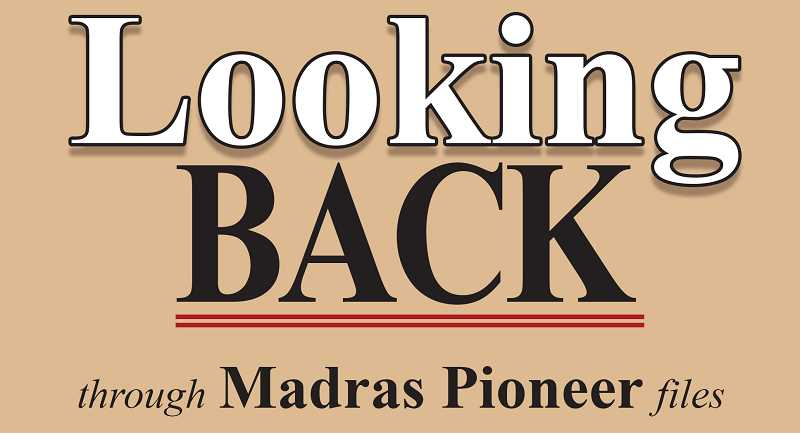 MADRAS PIONEER LOGO - The Madras Pioneer looks back over the past 100 years of its archives.