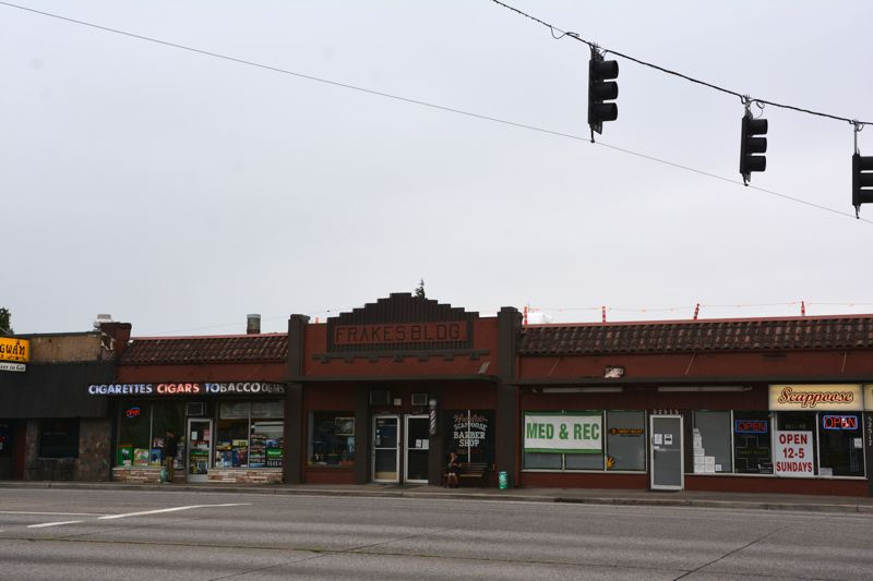 SPOTLIGHT PHOTO: COURTNEY VAUGHN - The Frakes Building in Scappoose was brought up during downtown revitalization discussions within the city as a potential candidate for a revitalization project to enhance the city's main corridor.