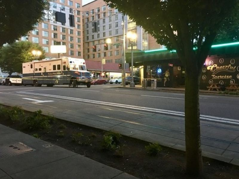 KOIN 6 NEWS - The scene of the officer-involved shooting early Friday, June 29.