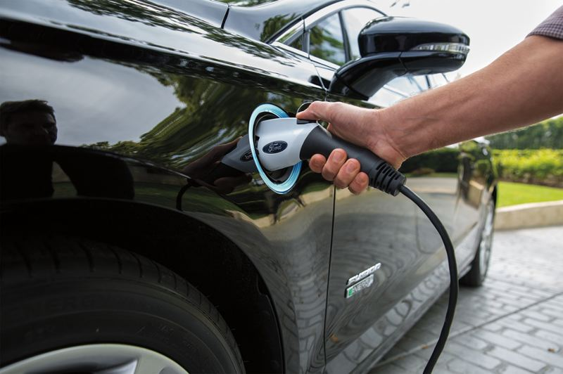 COURTESY FORD - A full charge will give many drivers enough electric-only power every day, but it switches over to an economic conventional hybrid mode after that.