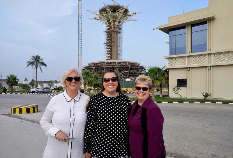 CONTRIBUTED PHOTO: LOIS LENTS - Sheryl Vanderwalker, Dominique Kuzmaak and Lois Lents, who all formed Driving Solutions International, traveled to Saudi Arabia to help train woman drivers.