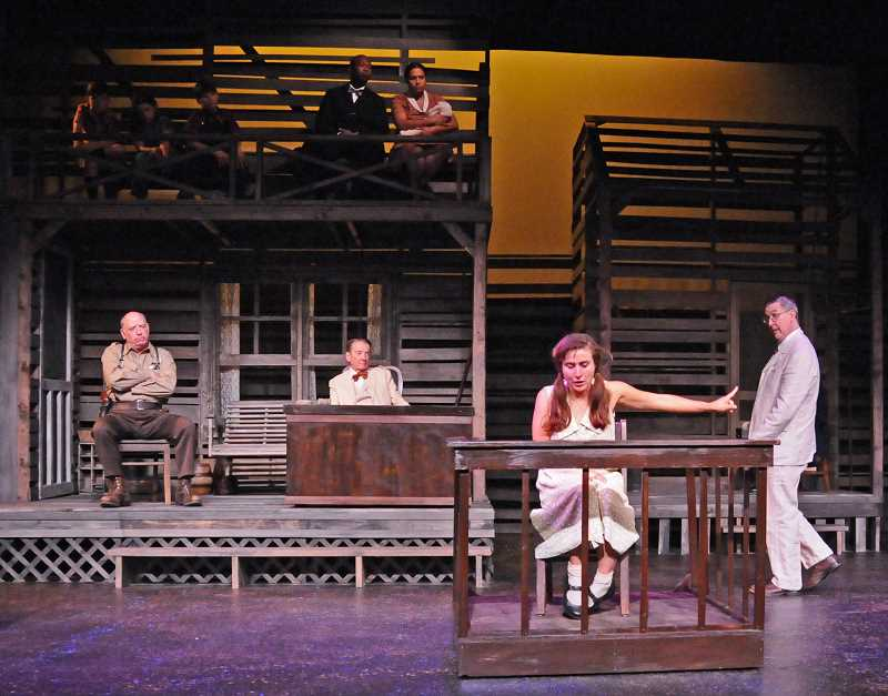 PHOTO COURTESY OF LAKEWOOD CENTER FOR THE ARTS - Best Set Design was among the six Oregon Theater Awards Society prizes won Saturday by 'To Kill a Mocking Bird,' which was also named Best Play.
