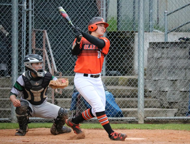 PAMPLIN MEDIA: JIM BESEDA - Gladstone's Derek Lee was named the Class 4A baseball co-Player of the Year after leading the Gladiators to their first state championship.