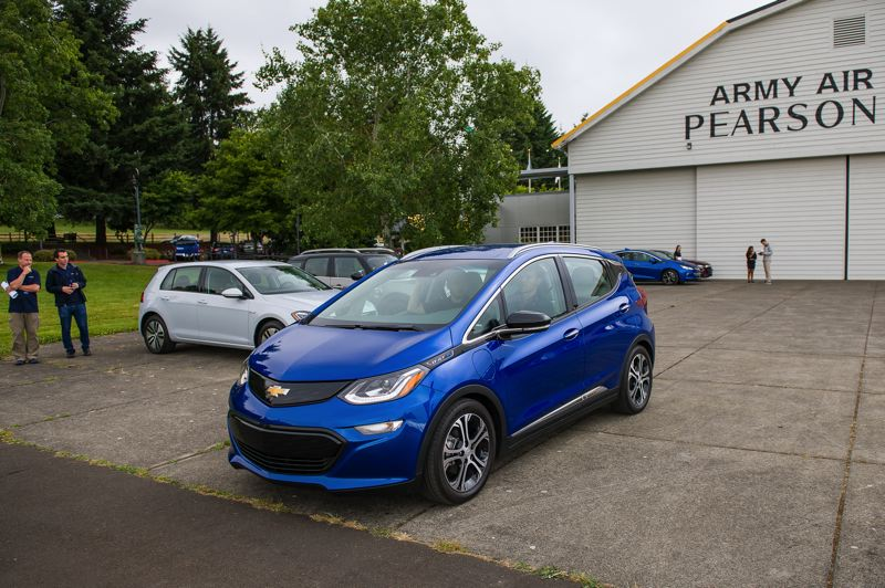 COURTESY OF DOUG BERGER, NWAPA - The Chevy Bolt has been hailed as the first affordable all-electric car with a range of more than 200 miles. It was honored at Drive Revolution 2018 at the Pearson Air Museum in Vancouver. But affordable is a relative term without public subsidies.