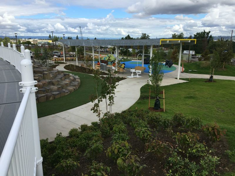 COURTESY: PORTLAND PARKS & RECREATION - The park's architecture integrates infrastructure and nature.