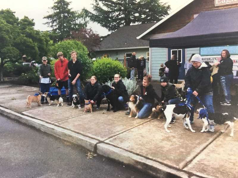 CONTRIBUTED PHOTO: BRANDE MILTENBERGER - During the annual Bark for Life event, both people and canines come together to raise awareness and funds for the American Cancer Society.