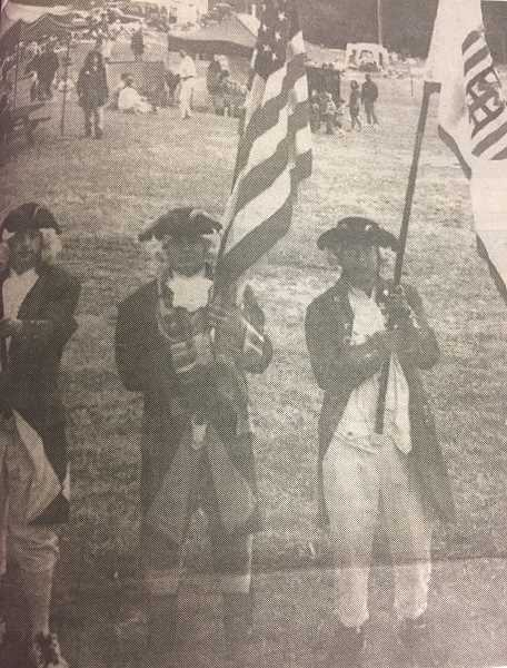 ARCHIVE PHOTO - In 1998, members of the Timber Lake Job Corps Color Guard earned first place in the Estacada Fourth of July parades Most Patriotic category.