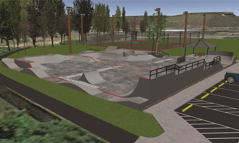 ARTWORK COURTESY OF CROOK COUNTY PARKS AND RECREATION DISTRICT - CCPRD plans to double the size of the skate park and resurface the tennis courts, among other improvements.