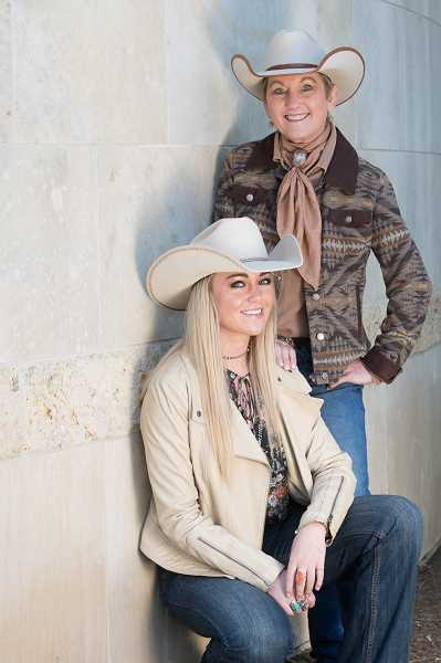 Country music performer Joni Harms (standing) has just released her 13th album and often performs with her daughter Olivia, who is developing her own music career.