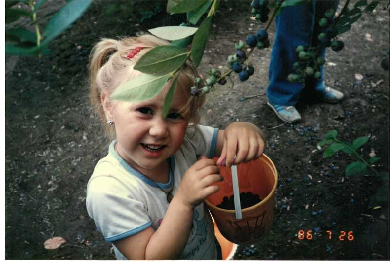 SUBMITTED PHOTO: LESLEY ARLE  - Bethany Schuch always loved blueberries, and her mother will honor her memory at a community blueberry pick this weekend.
