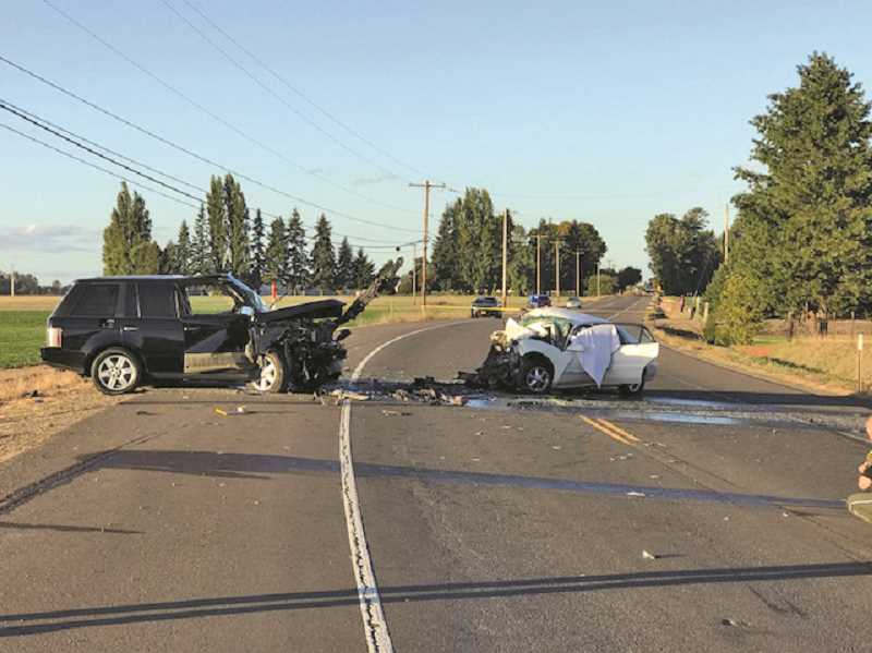 OREGON STATE POLICE - Garcia's black land rover crashed into Lizette Medrano-Perez's sedan. Medrano-Perez and her four young passengers were declared dead at the scene.