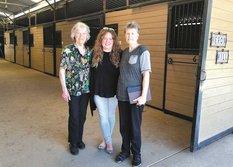 MERARI CALDERON RUIZ - (From left) Robbin Rudd, Jessica Budea, and Joyce Korschgen help keep Heron Hill moving forward.