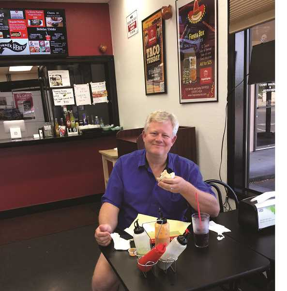 CAROL ROSEN - Mike Right, an Aurora Airport business owner, enjoyed his first visit to Chapala Express and plans to return.