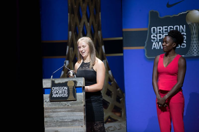 TIMES PHOTO: JAIME VALDEZ - Shelby Moran, a 2018 Sherwood High School graduate, was named the Female Prep Track and Field Athlete of the Year at the Oregon Sports Awards.