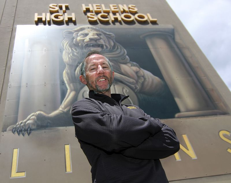 SPOTLIGHT PHOTO: MILES VANCE - After more than 30 years as head coach of the St. Helens track and cross country teams, Gerry Tinkle announced his retirement at the end of the 2017-18 school year.