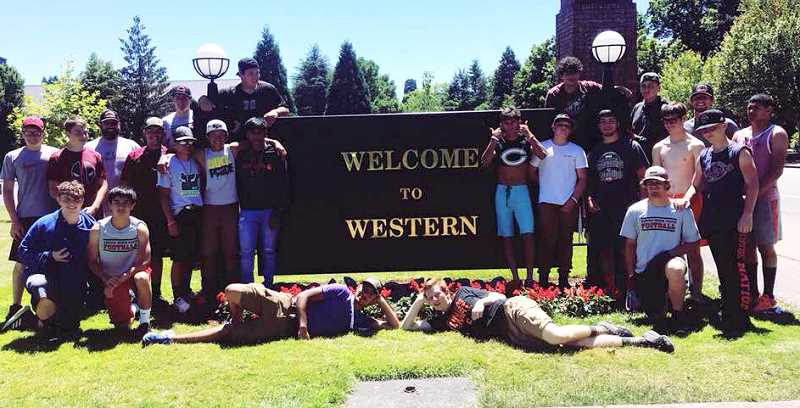 SUBMITTED PHOTO - The Culver football program went to the Western Oregon University football camp June 21-24.