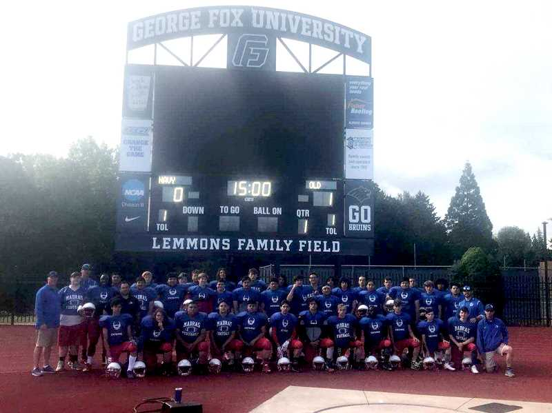 SUMBITTED PHOTO - The Madras football program went to the George Fox University football camp June 22-25.