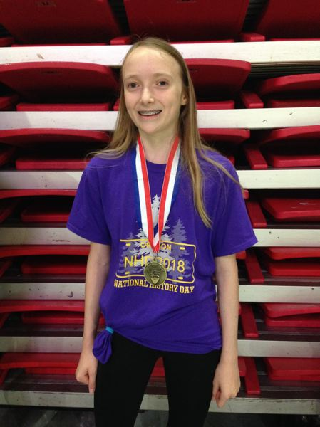 COURTESY: OREGON HISTORICAL SOCIETY - Anja Jolin of Laurelhurst School won eighth place for her essay on South African democracy. The National History Day competition also recognized her as outstanding in her division.
