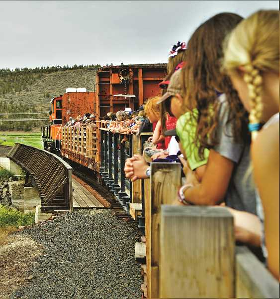 VALERIE OLSON/FOR THE CENTRAL OREGONIAN - The City of Prineville Railway takes patrons on diesel locomotive rides.