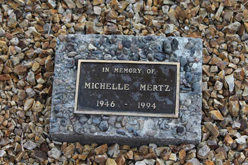 HOLLY M. GILL - The original healing garden, created when the hospital was Mountain View Hospital, was named in memory of a popular nurse at the hospital, Michelle Mertz, who died in 1994.