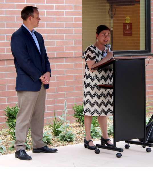 HOLLY M. GILL - Candy Canga, chief nursing officer for St. Charles Madras, talks about the importance of the healing garden.