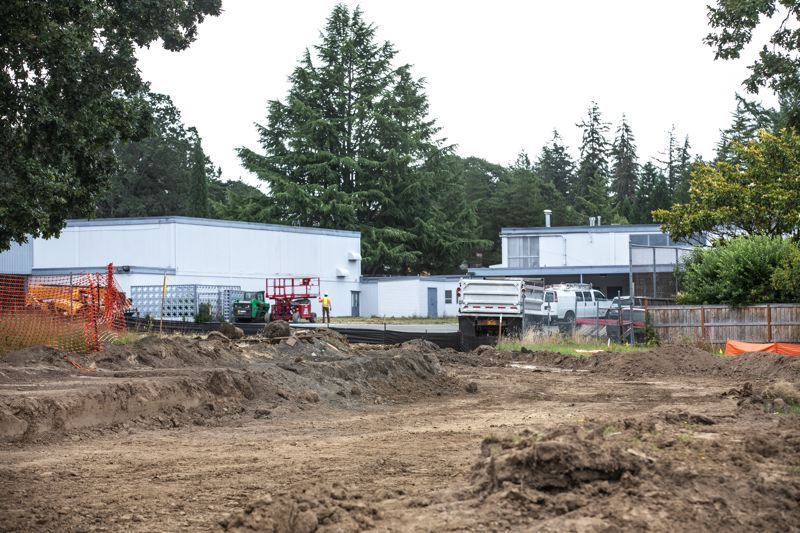 TIMES PHOTO: JONATHAN HOUSE - Construction has been coordinated between Tualatin Hills Park & Recreation District, which owns the park, and the Beaverton School District, which owns Walker Elementary School.