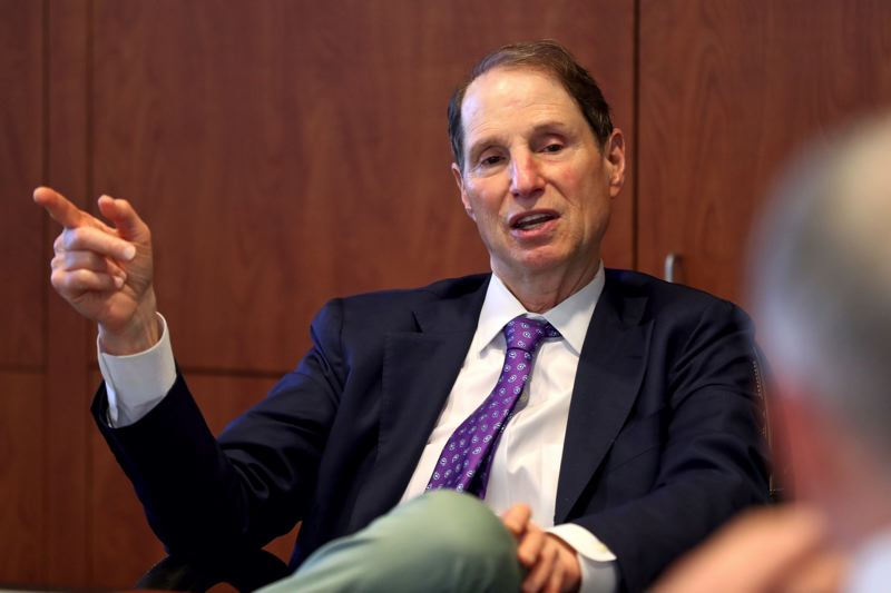 TIMES PHOTO: JAIME VALDEZ - U.S. Sen. Ron Wyden spoke to journalists from the Portland Tribune and sister publications on Friday, July 6. Topics ranged from trade to the U.S. Supreme Court.