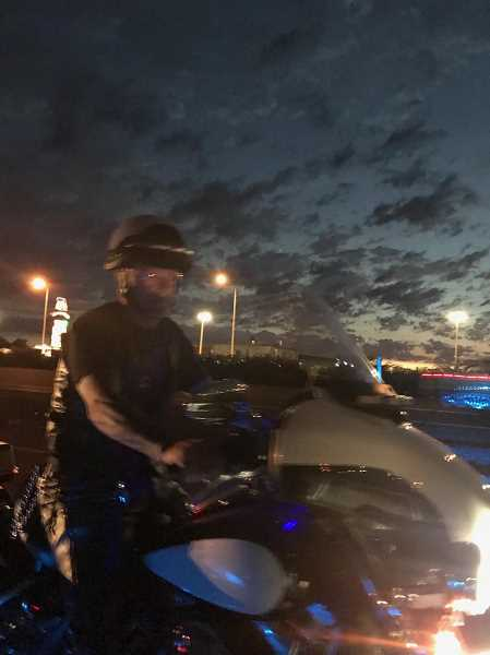 COURTESY PHOTO: OREGON STATE POLICE - A motorist captured this photo of a man impersonating a police officer Thursday near the Aurora exit on Interstate 5.