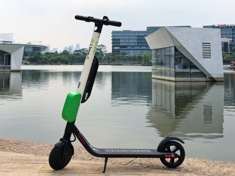 COURTESY PHOTO: LIMEBIKE - Limebike has electric scooters for rent in cities across the nation. The scooters use a smartphone app to rent and are not tethered to racks, so they can be dropped just about anywhere in the city.