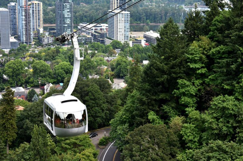 PORTLAND TRIBUNE: HAILEY STEWART - The Portland Aerial Tram transports an average 10,000 people per day.