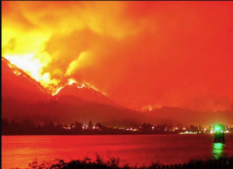 FILE PHOTO - This image of the Eagle Creek Fire was taken on September 5, 2017.