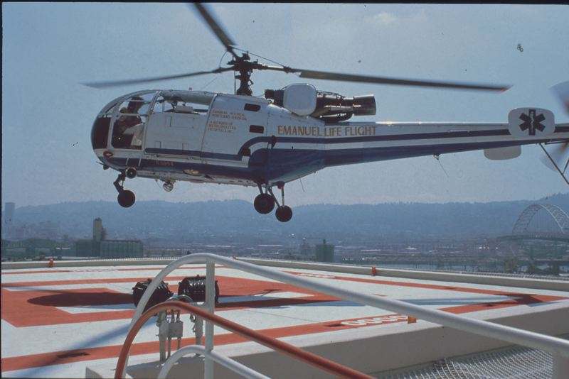 COURTESY: LIFE FLIGHT NETWORK - An original aircraft takes flight from when the Life Flight Network was named Emanuel Life Flight.