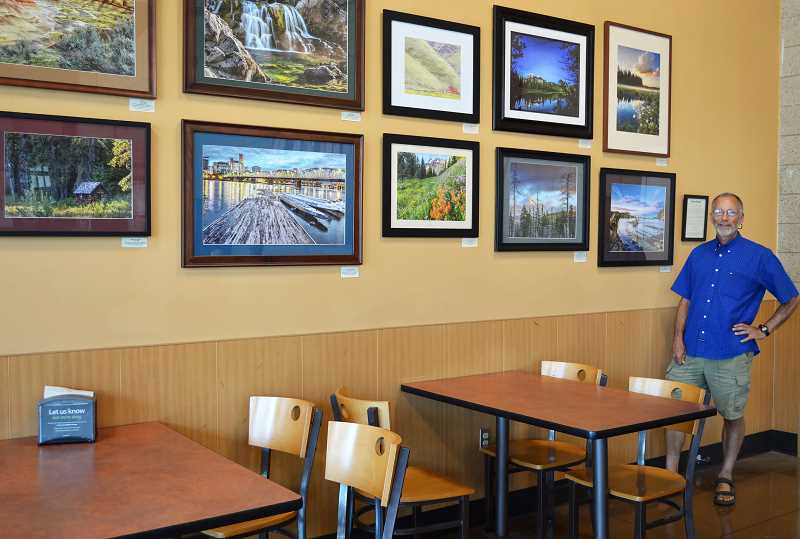 SPOKESMAN PHOTO: CLARA HOWELL  - Wilsonville High School teacher Charlie Hyman has his photographs on display in the Starbucks adjacent to the Wilsonville Fred Meyer until July 22.