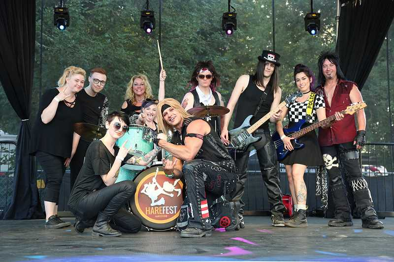 COURTESY PHOTO - Pictured is the Motley Crue tribute Band Same Ol' Situation, which is set to play at Harefest8 on Saturday, July 14.