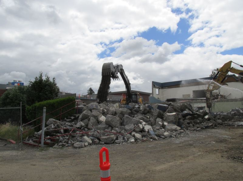 OUTOOK PHOTO: TERESA CARSON - Starting from the back of the school, Fairview Elementary School is being demolished.