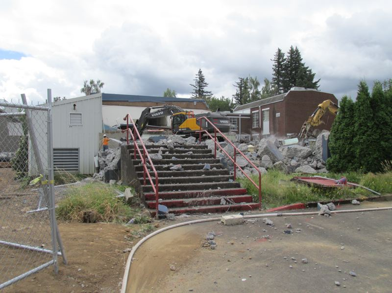 OUTOOK PHOTO: TERESA CARSON - The Fairview Eagles will fly into their new school in September and playgrounds and parking lots will be on the site of the old school.