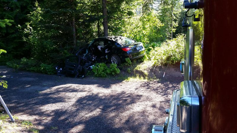 POLICE PHOTO - Oregon State Police released this photo following a car wreck near Government Camp Loop and U.S. Route 26 on Saturday, July 7.