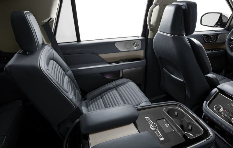 COURTESY LINCOLN MOTOR COMPANY - Second row passengers are treated like pampered guests in the 2018 Linoln Navigator.