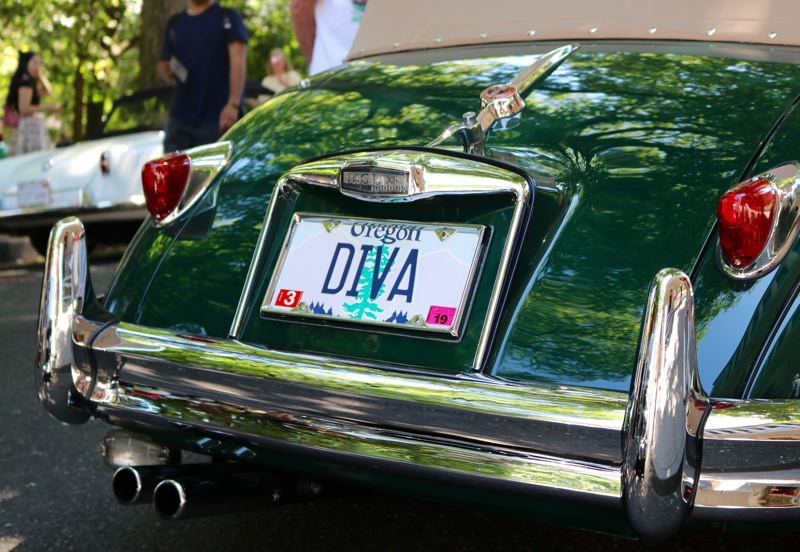TRIBUNE PHOTO: ZANE SPARLING - A 'Diva' license plate was on display at 'Cars in the Park' on Sunday, July 8.