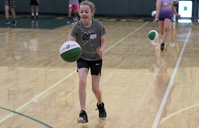 TIDINGS PHOTO: MILES VANCE - The West Linn Girls Basketball Hoop Camp is set for its second summer sesssion, with players entering grades 2-9 welcome to participate from Aug. 6-8 at West Linn High School.