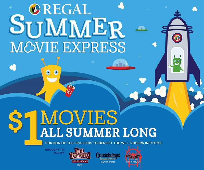 REGAL - Regal offers $1 movies on Tuesday and Wednesday mornings all summer long.